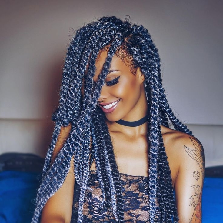 26 Best Braids Images On Pinterest Braid Styles Natural Against With Regard To 2018 Braided Hairstyles With Color (View 9 of 15)