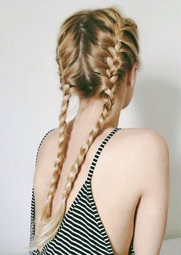 26 Stunning French Braids We Love!! Within Most Current Loose Hair With Double French Braids (View 11 of 15)