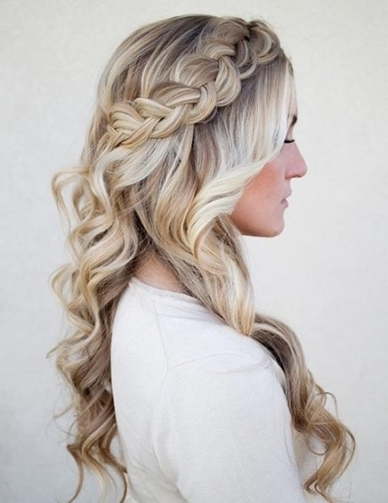 26 Stunning Half Up, Half Down Hairstyles | Stayglam With Regard To For 2018 Half Up Braided Hairstyles (View 7 of 15)
