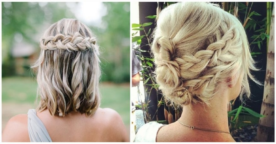 27 Braid Hairstyles For Short Hair That Are Simply Gorgeous In Newest Twin Braid Updo Hairstyles (View 4 of 15)
