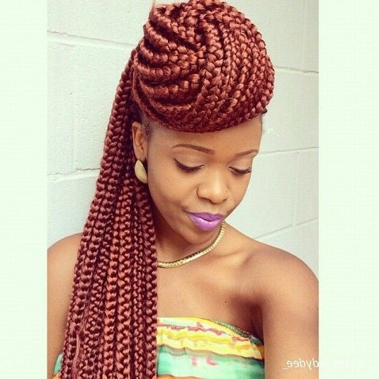 27 Epic Blonde, Red & Burgundy Box Braids To Try – Hairstylecamp Pertaining To Most Current Thin Black Box Braids With Burgundy Highlights (View 8 of 15)