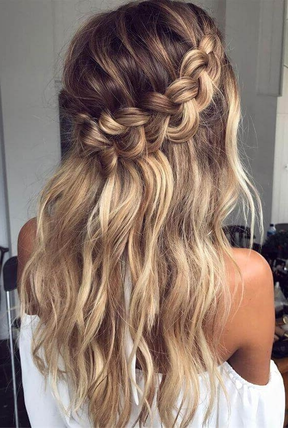 27 Of The Most Pinned Hairstyles To Start The Year Right Pertaining To Best And Newest Braided Crown With Loose Curls (View 13 of 15)