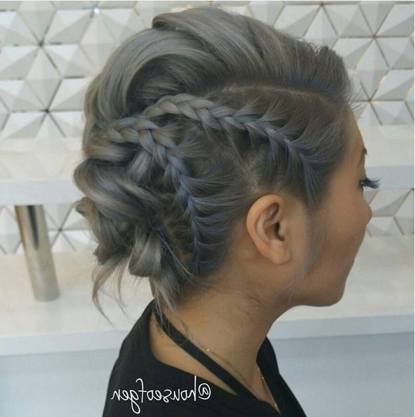 27 Super Trendy Updo Ideas For Medium Length Hair – Popular Haircuts Inside Most Current Braided Updo Hairstyles For Medium Hair (View 9 of 15)