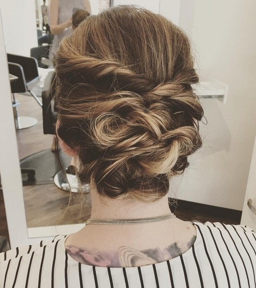 27 Trendy Updos For Medium Length Hair: Updo Hairstyle Ideas For 2017 Regarding 2018 Fancy Twisted Updo Hairstyles (View 11 of 15)