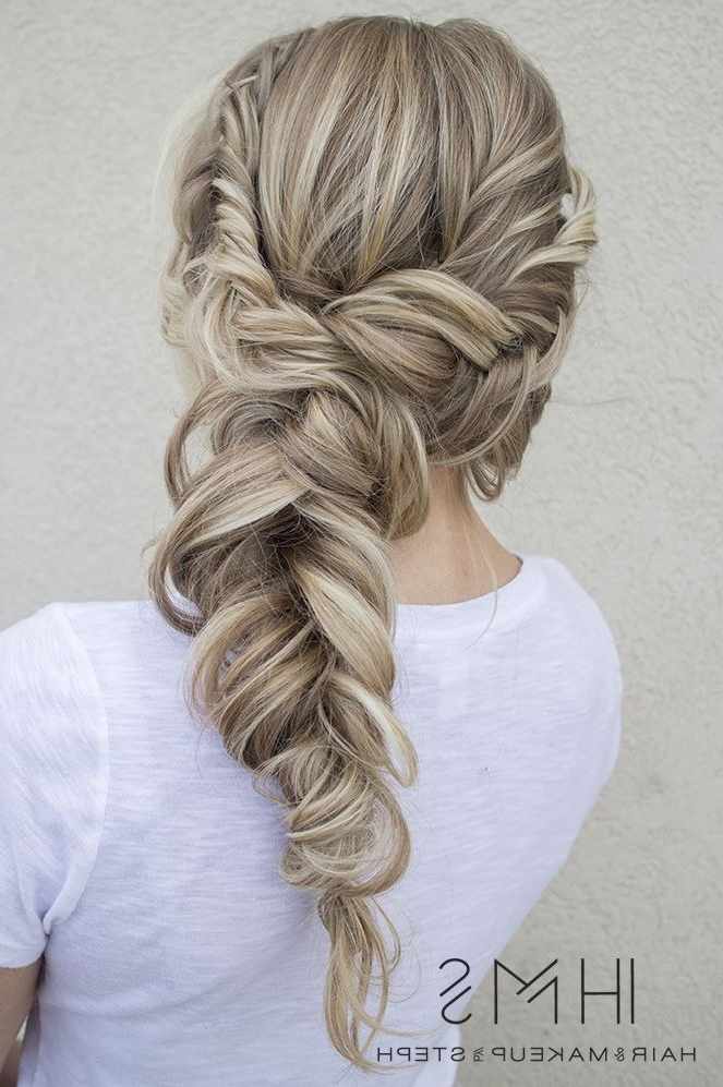 28 Beautiful Bridal Braids | Hair | Pinterest | Updo, Weddings And Intended For Most Current Messy Loosely Braided Side Downdo (View 9 of 15)