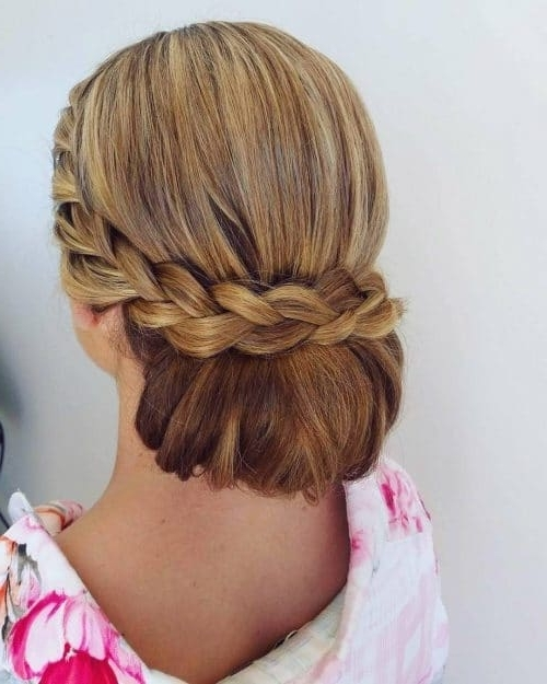 28 Gorgeous Braided Updo Ideas For 2018 Intended For Newest French Braid Updo Hairstyles (View 5 of 15)