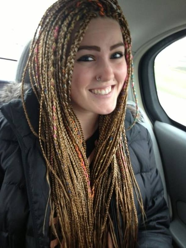 28 Yarn Braids Styles That You Will Absolutely Love – Style Easily For Newest Cornrows Hairstyles With White Color (View 3 of 15)