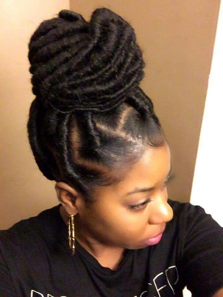 286 Best Box Braids Images On Pinterest | African Hairstyles, Black Intended For Most Current Braided Cornrows Loc Hairstyles For Women (View 4 of 15)