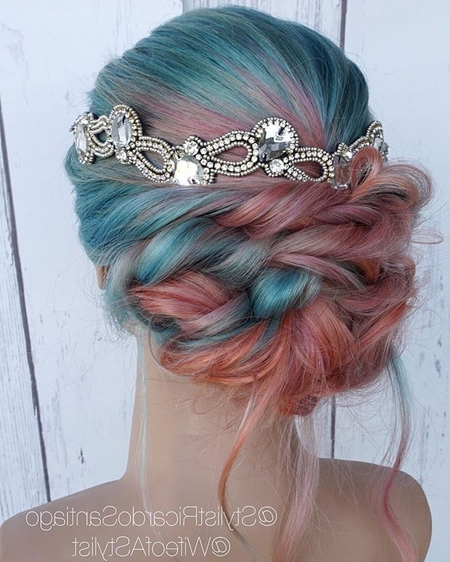 2997 Best Hair// Images On Pinterest   Cute Hairstyles, Hairstyle Inside 2018 Cotton Candy Updo Hairstyles (View 12 of 15)
