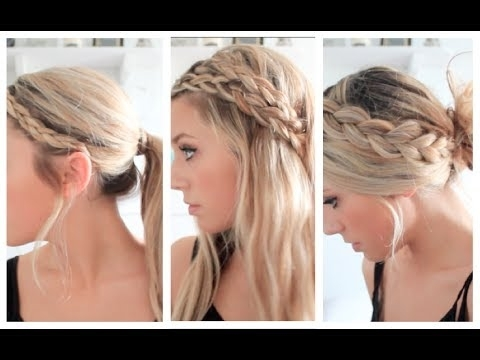 3 Braided Summer Hairstyles – Youtube With Regard To Most Current Braided Hairstyles For Summer (View 2 of 15)
