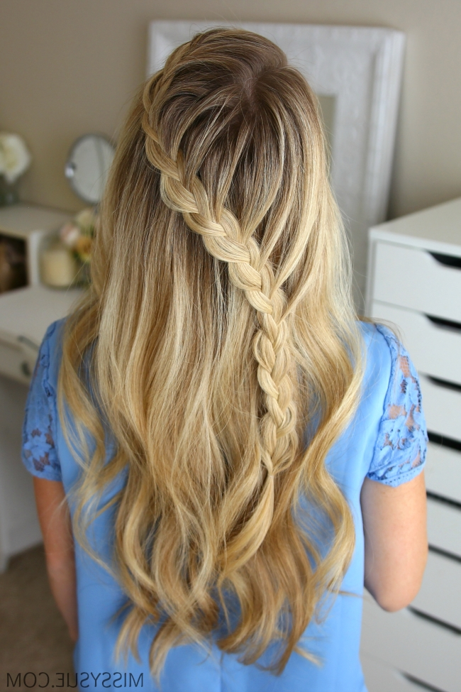 3 Fall Half Up Hairstyles | Hair Tutorials | Pinterest | Braid Hair Within Latest Diagonal French Braid Hairstyles (View 3 of 15)