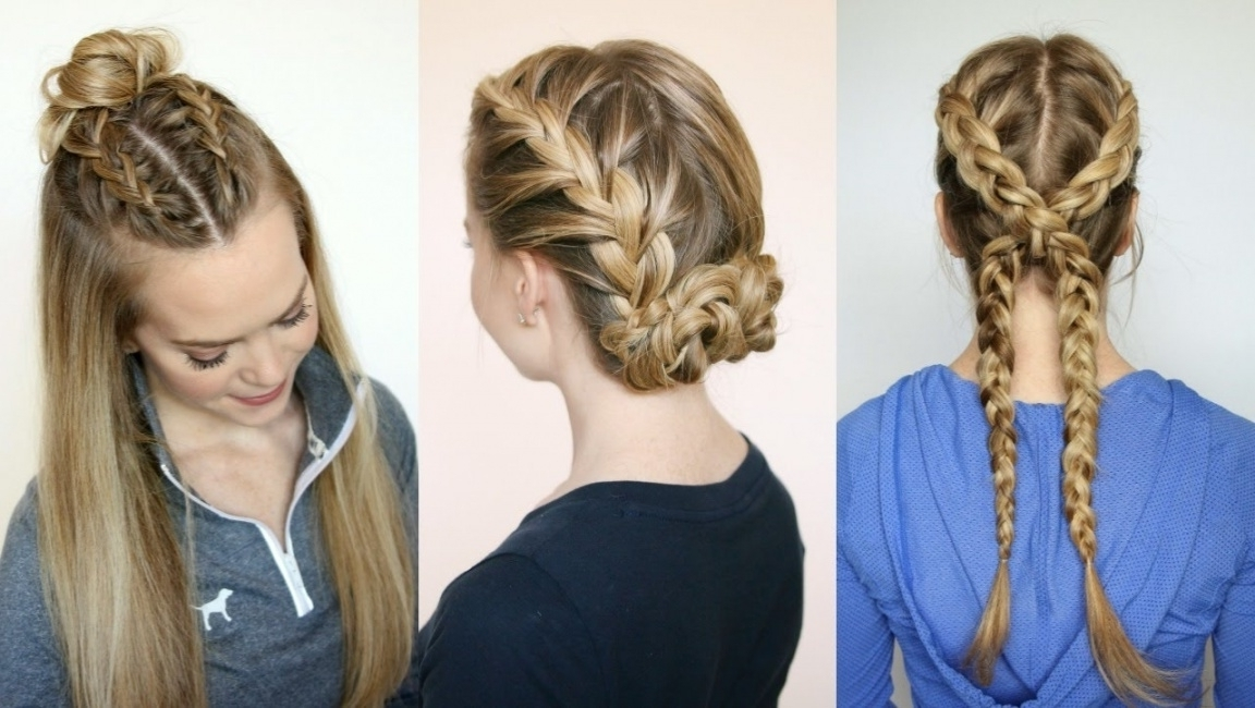 3 Sporty Hairstyles | Missy Sue – Youtube In 3 Braid Hairstyles Within Most Up To Date Missy Sue Braid Hairstyles (View 3 of 15)