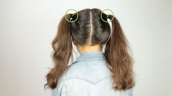 3 Ways To Do Space Buns – Wikihow Pertaining To Newest Pigtails Braids With Rings For Thin Hair (View 5 of 15)