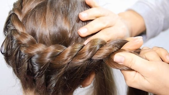 3 Ways To Make A Crown Braid – Wikihow Intended For Most Popular French Braids Crown And Side Fishtail (View 14 of 15)