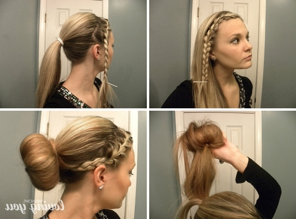 3 Ways To Shake Up Your Sock Bun Pertaining To Most Recently Braid Into Sock Bun (View 6 of 15)