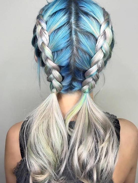 30 Badass Boxer Braids You Need To Try | Fashionisers Throughout 2018 Extra Long Blue Rainbow Braids Hairstyles (View 2 of 15)