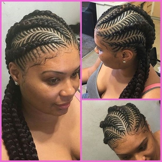 30 Beautiful Fishbone Braid Hairstyles For Black Women In Current Two Classic Braids Hairstyles (View 3 of 15)