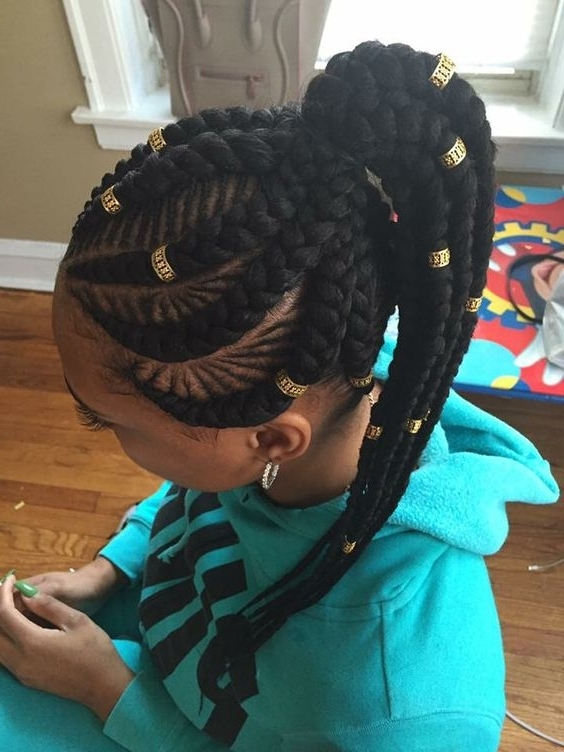 30 Beautiful Fishbone Braid Hairstyles For Black Women – Part 2 For Current Braided Hairstyles Into A Ponytail With Weave (View 7 of 15)