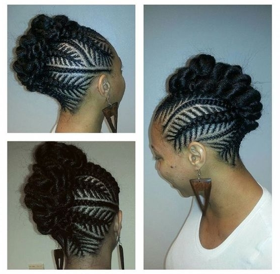 30 Beautiful Fishbone Braid Hairstyles For Black Women Within Most Current Mohawk With Criss Crossed Braids (View 4 of 15)