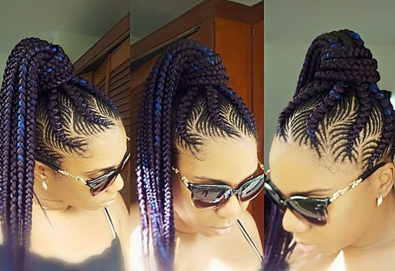 30 Beautiful Fishbone Braid Hairstyles For Black Women Within Most Recently Braided Hairstyles Into A Ponytail With Weave (View 6 of 15)