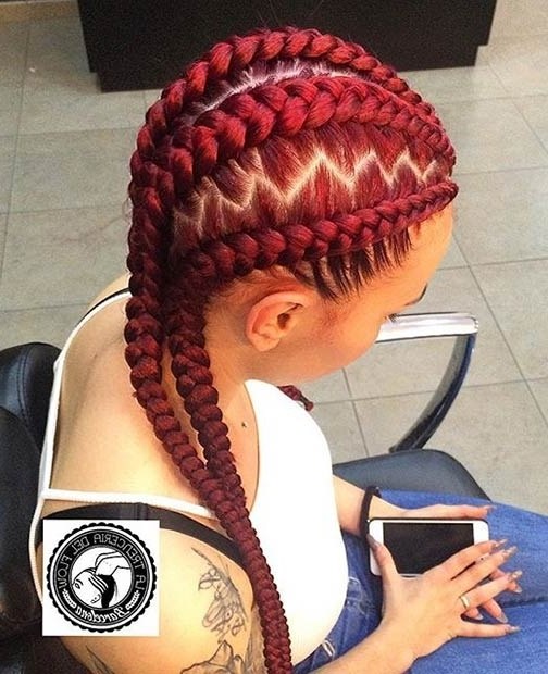 30 Best Jumbo Box Braided Hairstyles For Black Women For Most Up To Date Braided Hairstyle With Jumbo French Braid (View 9 of 15)