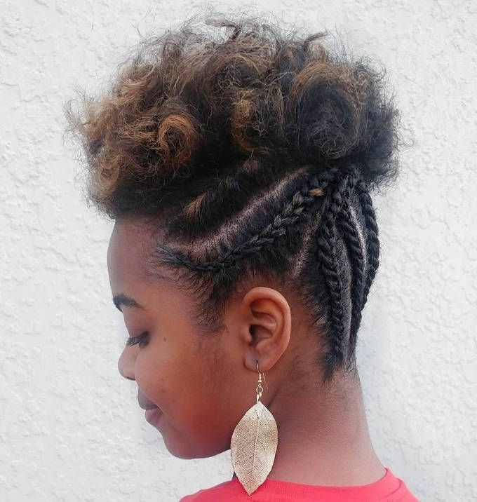30 Best Natural Hairstyles For African American Women | Natural Hair In 2018 Braided Updo Hairstyles For Short Natural Hair (View 3 of 15)