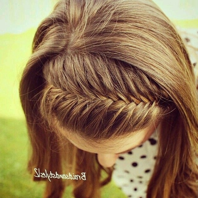 30 Best Peinados Images On Pinterest | Hair Makeup, Haircut Styles With Recent French Braids Crown And Side Fishtail (View 12 of 15)