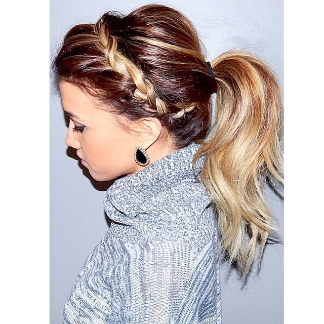30 Braided Ponytail Hairstyles To Slay In 2018 | Hairstyle Guru Pertaining To Current Two Tone Braided Pony Hairstyles (View 7 of 15)