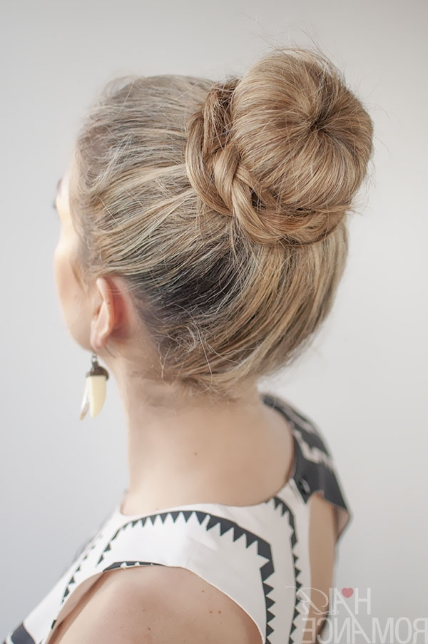 Featured Photo of Donut Bun Hairstyles With Braid Around