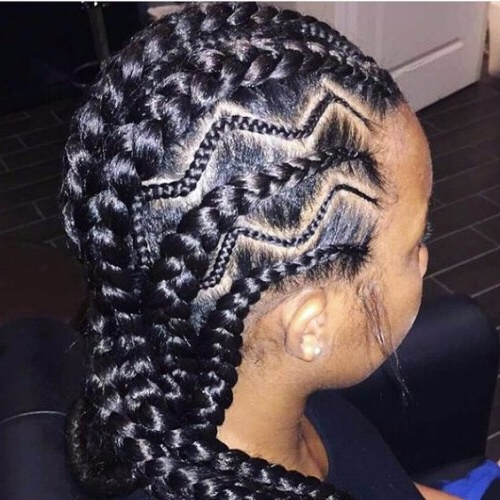 30 Cool Ghana Braids To Inspire You My New Hairstyles Modern Of Zig With Regard To Most Popular Zig Zag Cornrows Hairstyles (View 9 of 15)
