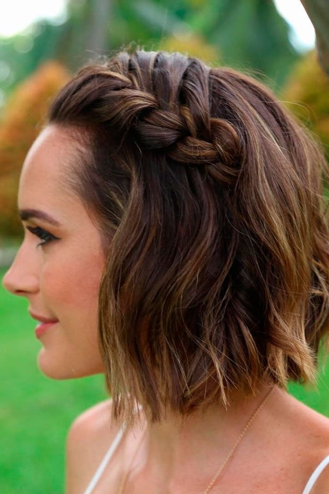 30 Cute Braided Hairstyles For Short Hair | Beauty | Pinterest Within Most Recently Braided Hairstyles For Short Hair (View 2 of 15)