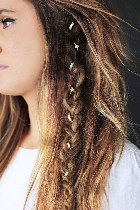 30 Festival Ready Braided Hairstyles To Inspire Your Look Regarding Current Braided Hairstyles With Jewelry (View 8 of 15)