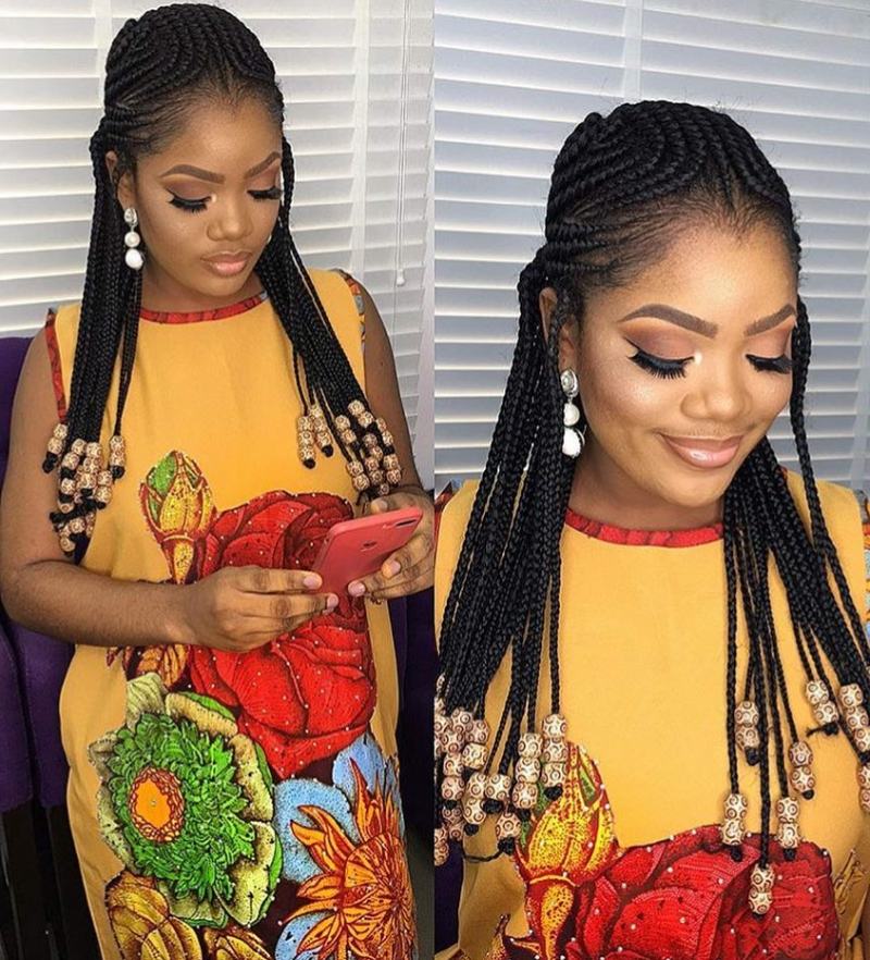 30 Gorgeous Braided Hairstyles With Beads 2017 (Photos) – Blogit Within Current Braided Hairstyles With Beads (View 13 of 15)