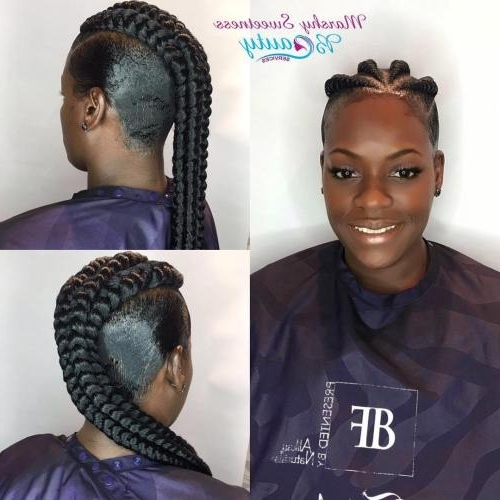 30 Gorgeous Ghana Braids For An All Black Style – Page 2 Of 6 With Latest Chunky Mohawk Braid With Cornrows (View 4 of 15)