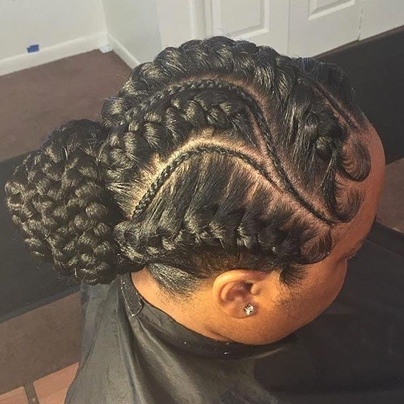 30 Gorgeous Ghana Braids For An All Black Style – Page 3 Of 6 Intended For Current Ghana Braids Bun Hairstyles (View 8 of 15)