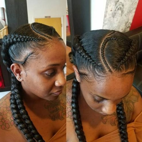 30 Gorgeous Ghana Braids For An All Black Style – Page 6 Of 6 With Regard To 2018 Long Curvy Braids Hairstyles (View 5 of 15)