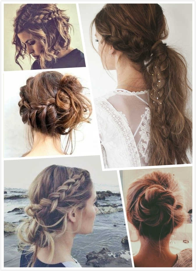 30 Messy Braid Hairstyles That You Will Love – Hairsilver Within Most Recent Braided Hairstyles For Layered Hair (View 3 of 15)