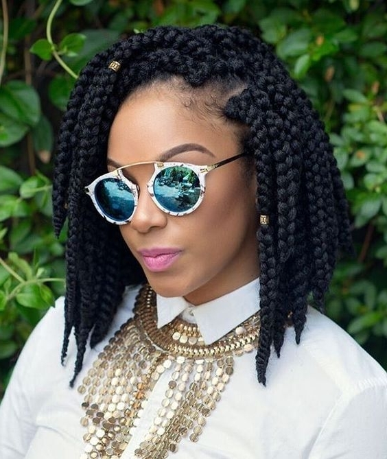 30 Short Box Braids Hairstyles For Chic Protective Looks Inside Most Up To Date Short Braided Hairstyles (View 2 of 15)