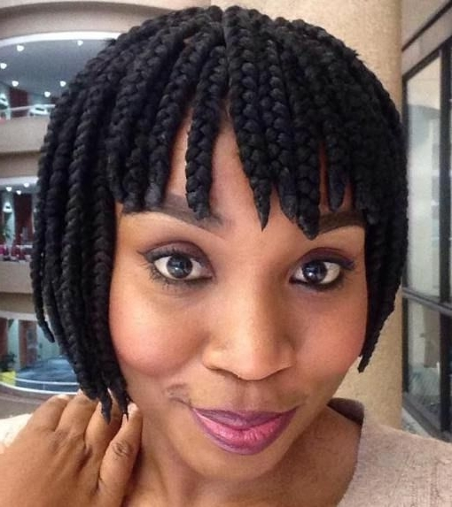 30 Short Box Braids Hairstyles For Chic Protective Looks Regarding Current Braided Bob Hairstyles (View 11 of 15)