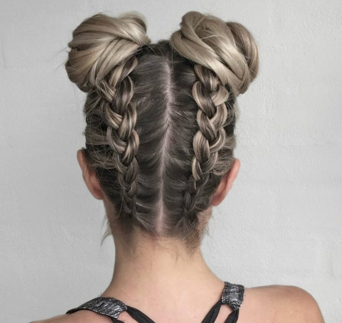30 Upside Down Braids For More Interesting Updos – Page 3 Of 6 With Regard To Most Recent Upside Down Braids Into Messy Bun (View 3 of 15)