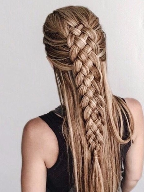 30 Ways To Braid Your Hair throughout Most Up-to-Date Chunky Two-French Braid Hairstyles