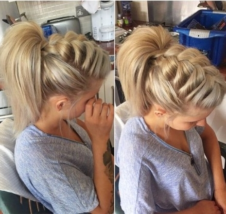 30 Ways To Braid Your Hair Within Best And Newest Mohawk French Braid Ponytail Hairstyles (View 11 of 15)