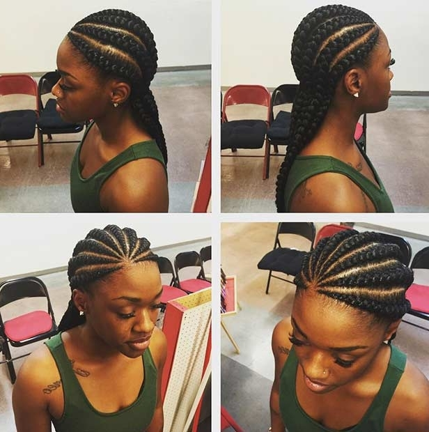 31 Best Ghana Braids Hairstyles   Page 3 Of 3   Stayglam With Regard To Most Recent Chunky Cornrows Hairstyles (View 6 of 15)