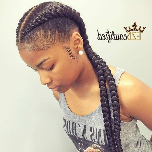 31 Cornrow Styles To Copy For Summer | Beautiful African Hair Pertaining To Current Two Cornrows Hairstyles (View 12 of 15)