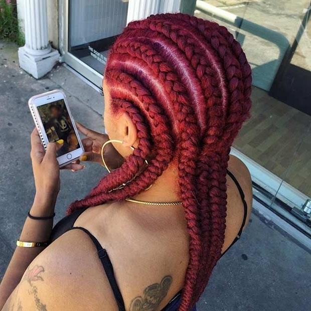 31 Cornrow Styles To Copy For Summer | Natural Hairstyle | Pinterest Within Most Recently Braided Hairstyles For Red Hair (View 10 of 15)