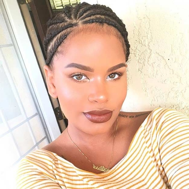 31 Cornrow Styles To Copy For Summer | Page 2 Of 3 | Stayglam With Most Popular Mini Cornrows Hairstyles (View 8 of 15)