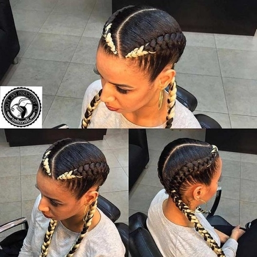 31 Cornrow Styles To Copy For Summer | Page 2 Of 3 | Stayglam With With Regard To Most Current Two Cornrows Hairstyles (View 11 of 15)