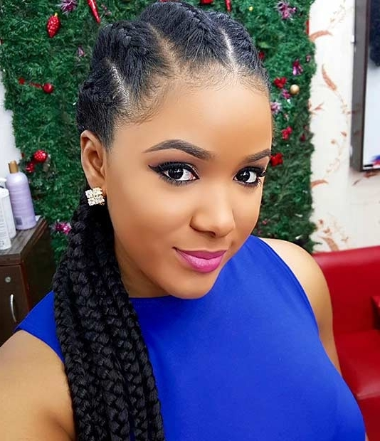 31 Cornrow Styles To Copy For Summer | Page 3 Of 3 | Stayglam With Best And Newest Elegant Cornrows Hairstyles (View 5 of 15)