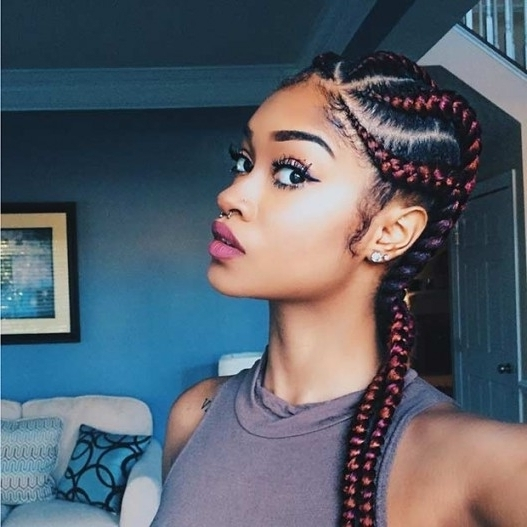 31 Cornrow Styles To Copy For Summer | Page 3 Of 3 | Stayglam Within Within Most Popular Jumbo Cornrows Hairstyles (View 12 of 15)