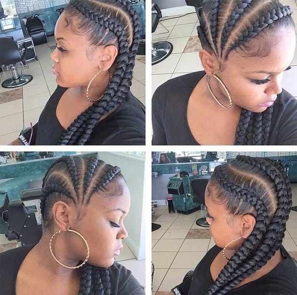 31 Cornrow Styles To Copy For Summer | Stayglam Intended For Most Popular Cornrows Hairstyles To The Side (View 7 of 15)